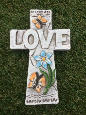 CROSS Garden Coloured Decorative Stone LOVE